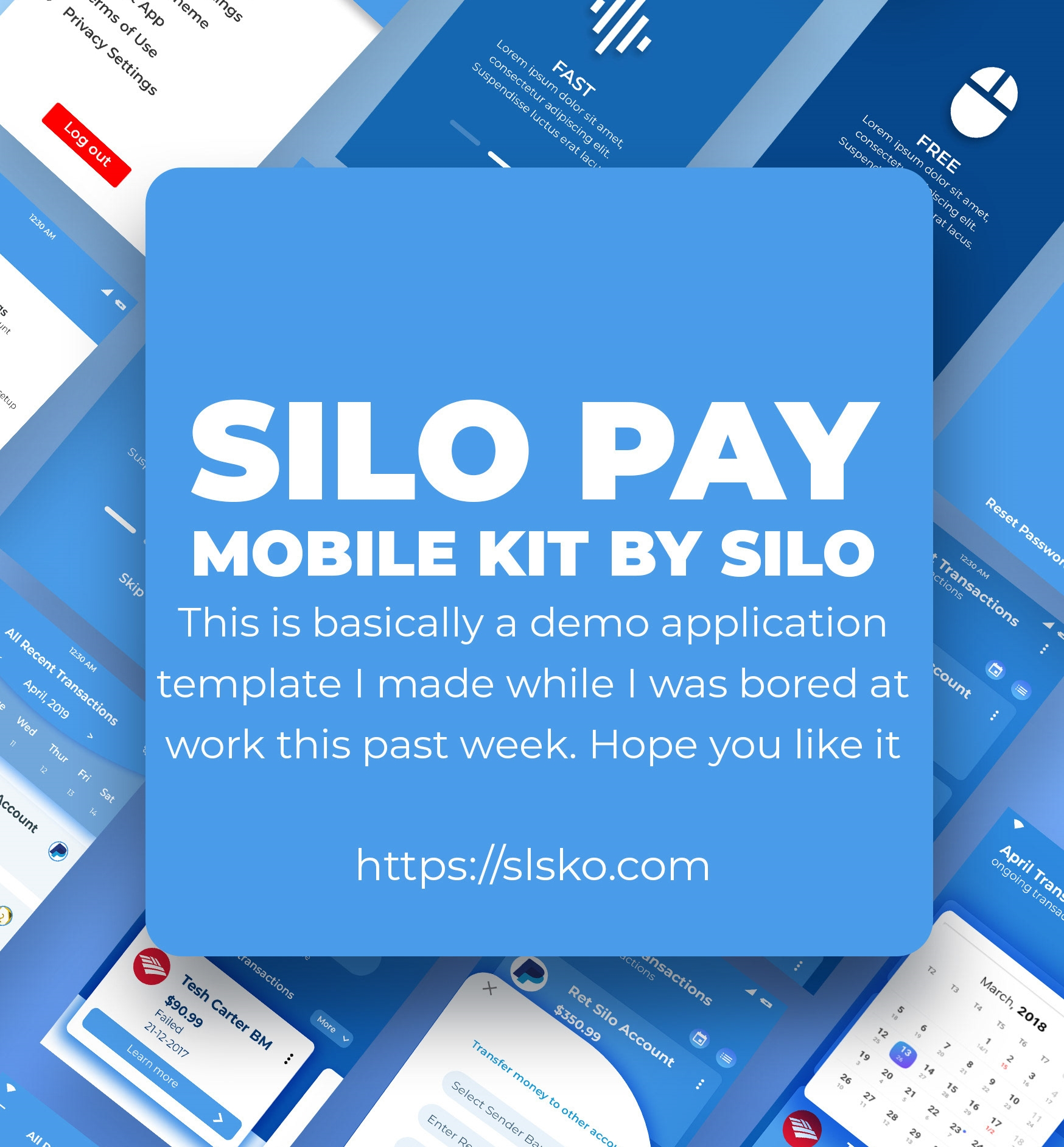 Mobile Payment App Free UI template download PSD